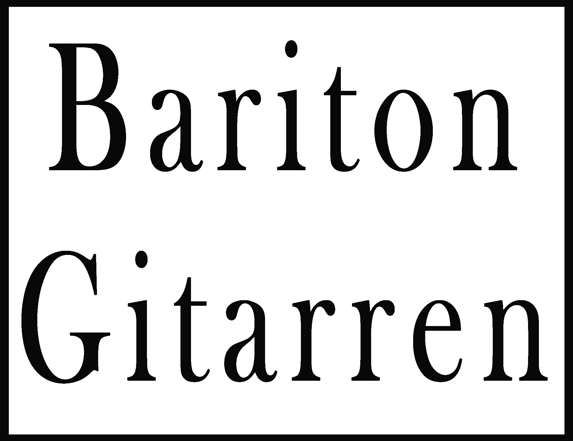 Bariton-Gitarren