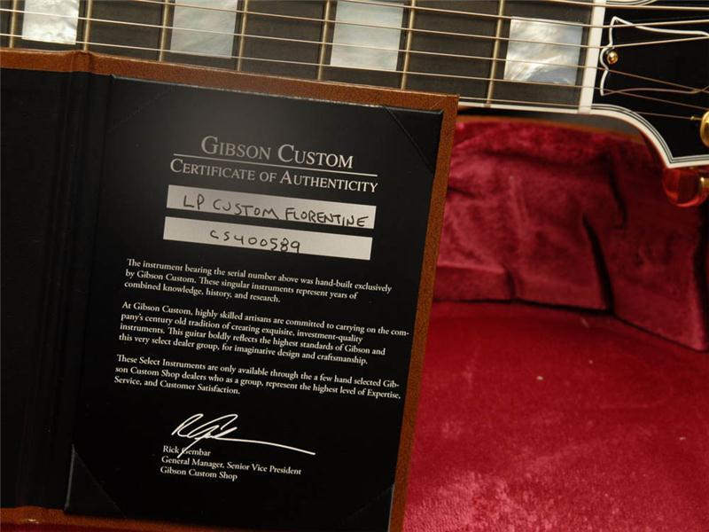 Gibson Les Paul Florentine Gold Sparkle Burst
