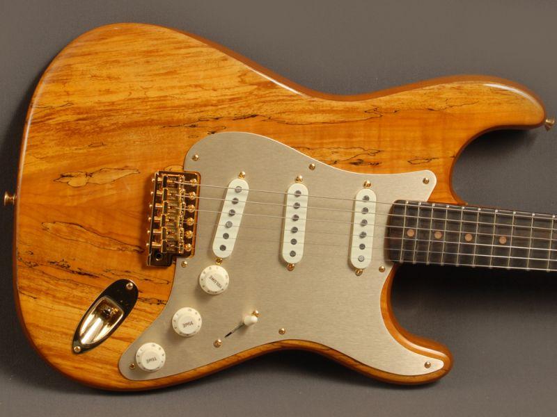Fender Custom Shop Stratocaster® Artisan Roasted Alder/Spalted Maple ...