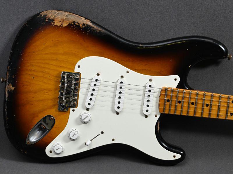 Fender Custom Shop Stratocaster 1955 HR MB Carlos Lopez 2 Tone Sunburst