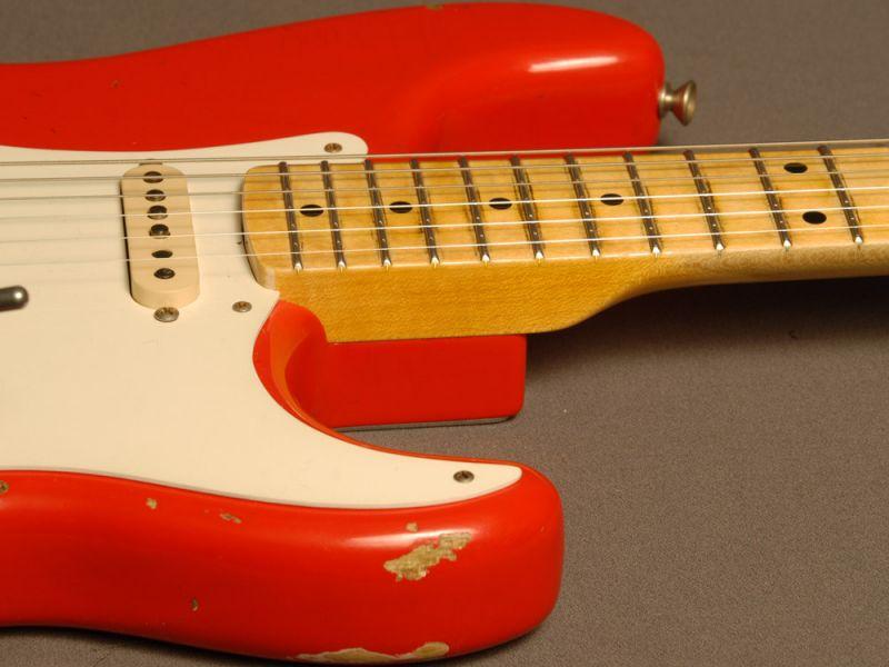 Fender Custom Shop StratocasterR 1956 RelicR Floyd Rose Hot Rod Red
