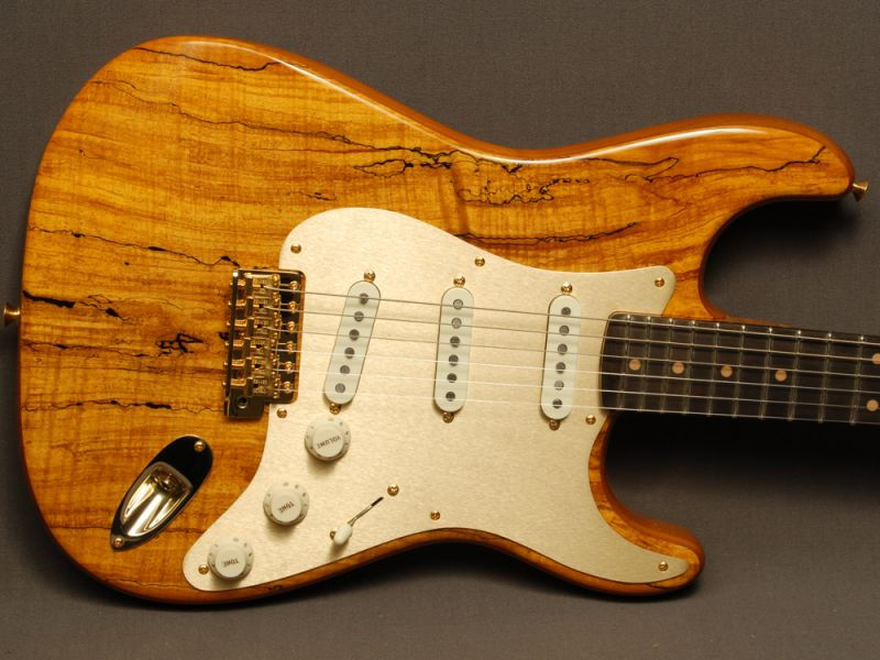 Fender Custom Shop Stratocaster® Artisan Roasted Alder/Spalted Maple ...