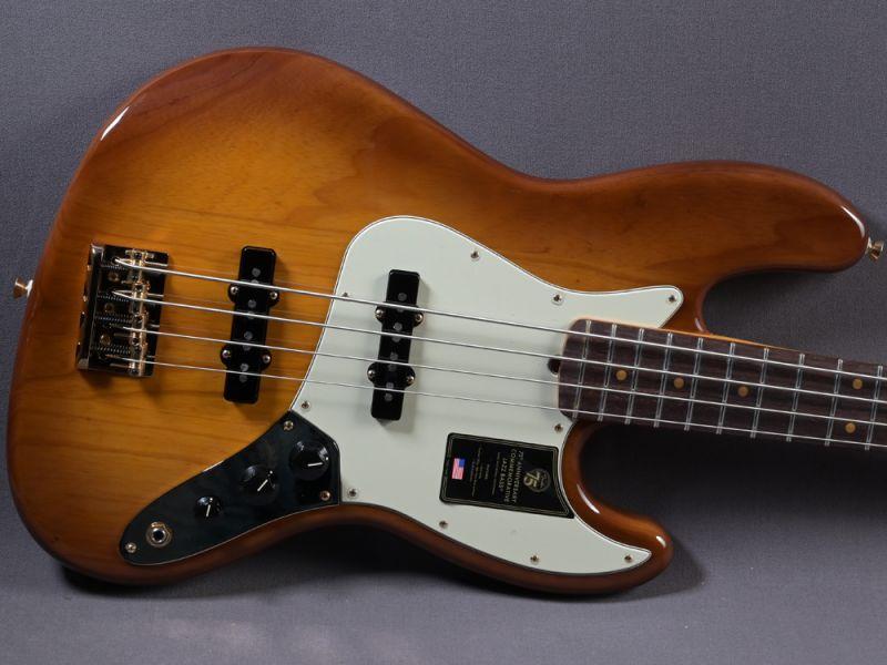 Fender Jazz Bass 75th Anniversary Commemorative MN 2-Color Bourbon Burst
